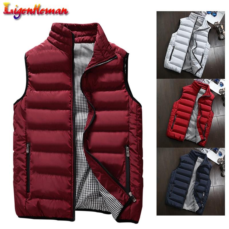 Men Winter Waistcoat Men's Vest Casual Coats Mens Plus Size 5XL Vest Men New Stylish 2019 Spring Autumn Warm Sleeveless Jacket