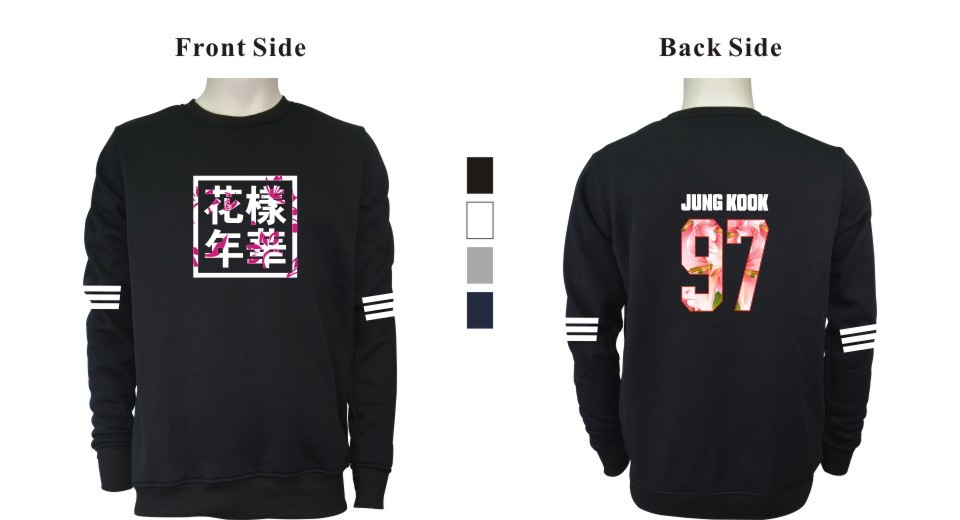 Kpop BTS Bangtan Boys LUCKYFRIDAYF Kobiety bluzy bluzy z kapturem Bluzy List Wydrukowano w J-HOPE 94 i SUGA 93 Kobiety Bluzy JUNG GŁUPIEGO 97 15