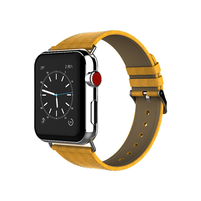 edcd53118172 2018 Fashion Luxury Band for Apple Watch 38mm 42mm Genuine Leather Bracelet  Belt Band for Iwatch