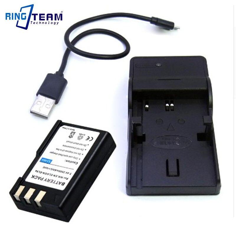 EN-EL9 EN-EL9a EN-EL9e Battery Pack and USB Charger (2-In-1) for Nikon DSLR Cameras D40 D40X D60 D3000 D5000