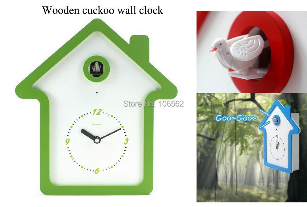Hot Modern Design Wooden Wall Clock Bird Cuckoo Clock