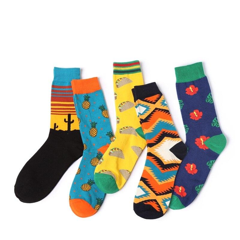 Men Socks New Arrival Autumn 1pair Men Socks British Style Long Colorful Men Fashion Casual Cotton Socks British Style