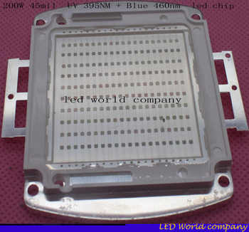 200W 45mil SMD High Power LED Ultra Violet UV 395NM + Blue 460nm UV:Blue 33-36V High Power LED Light 200W uv led chip