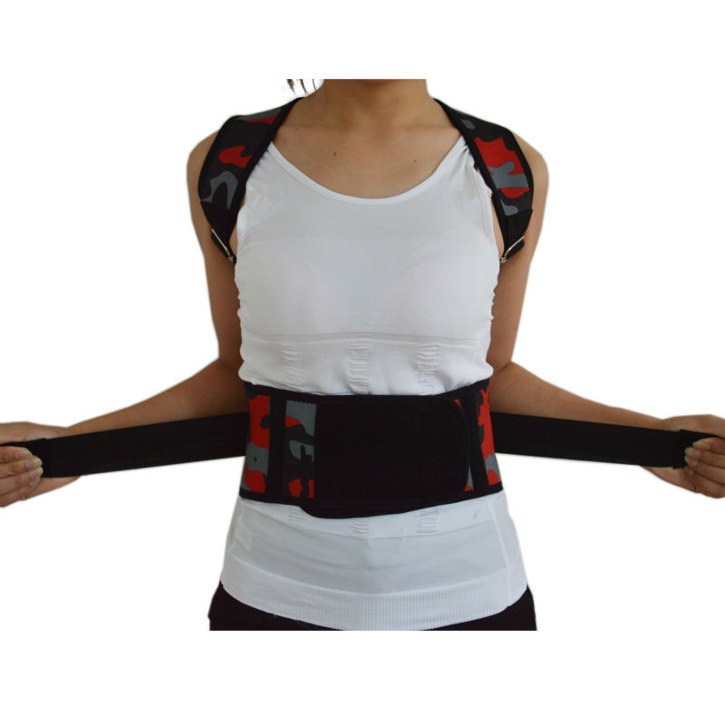 New Corset Women Men Posture Corrector Back Brace Belt Back Scoliosis Correction Shoulder Corrector Lumbar Support Belt B002