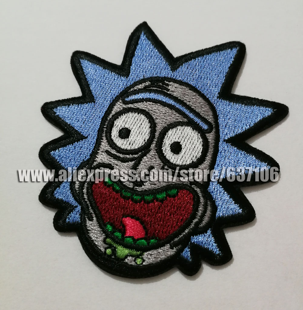 c2ab2b0f1f0e66 2017 Rick and Morty patches badges of Embroidered Iron On Clothing Badge  Movie Film TV cosplay wallet bag shoes patches -in Patches from Home    Garden on ...