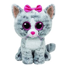 Ty Beanie BOOS gato gris felpa muñeca de juguete bebé Regalo de Cumpleaños Animales de peluche y felpa 15 cm grande Ojos peluche y felpa