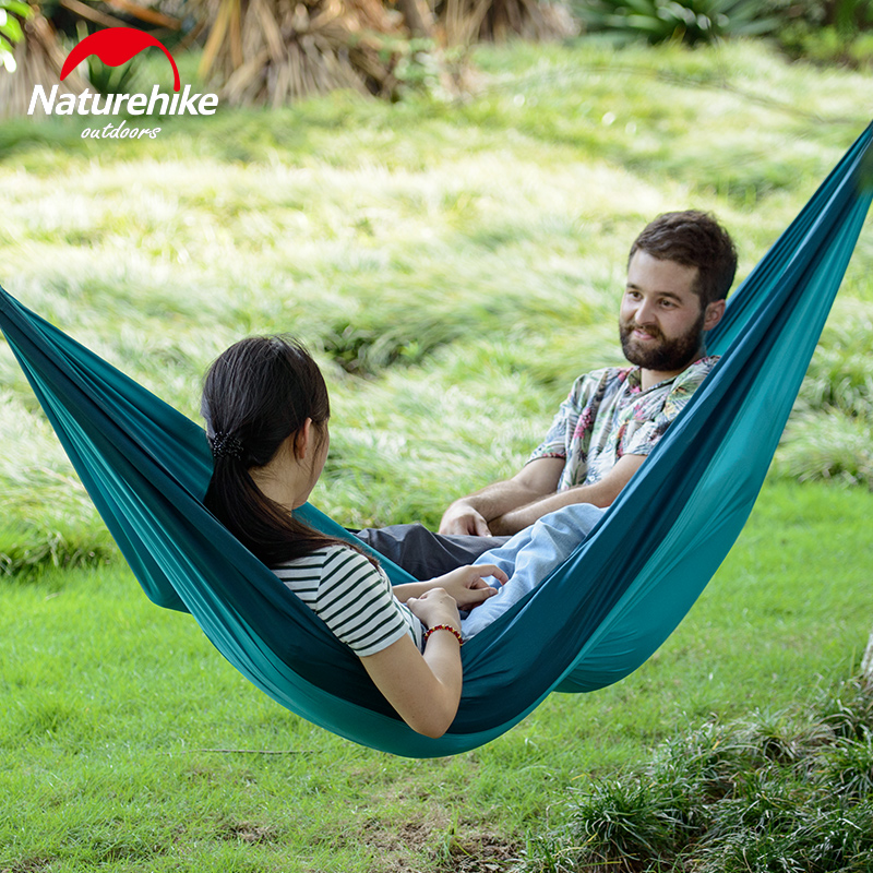 NatureHike Loiding weight 180KG Double Person Ultralight Camping Hammock Tent 340T Polyester Outdoor Camping Hunting Dormitory