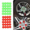 20 unids Car Styling Gel de Sílice Verde Tuercas de la Rueda Tornillo car-styling Tapacubos Cubiertas Protectoras Protector de Tornillo 17mm 19mm 21mm tornillos