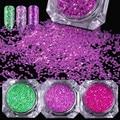 5 Boxes Hexagon Glitter Paillette Ultra-thin Sequins Manicure Nail Art Decoration 7-11 Colors