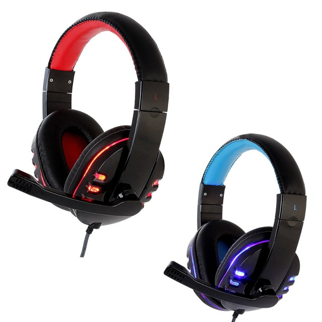 CH2 Gaming headset for computer PS4 casque Deep Bass stereo headset headphones with microphone LED Light for PC Gamer Earphone