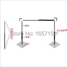 10ft*10ft Stainless Steel Wedding Backdrop Stand Backdrop Pipe with expandable Rods Adjustable Stand for Wedding Drape