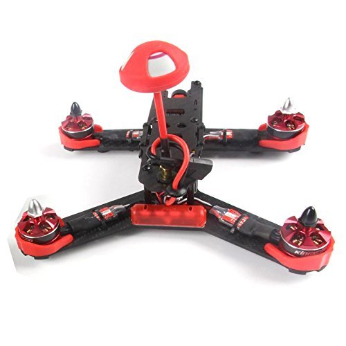 F18214 210GT 210mm Mini Quadcopter FPV Racing Drone PNP Combo Kit ARF with CC3D Flight Control /CCD Camera - Red diy mini drone flight control kit sp racing f3 mini m8n gps cf osd holder for qav250 robocat270 nighthawk 250 quadcopter