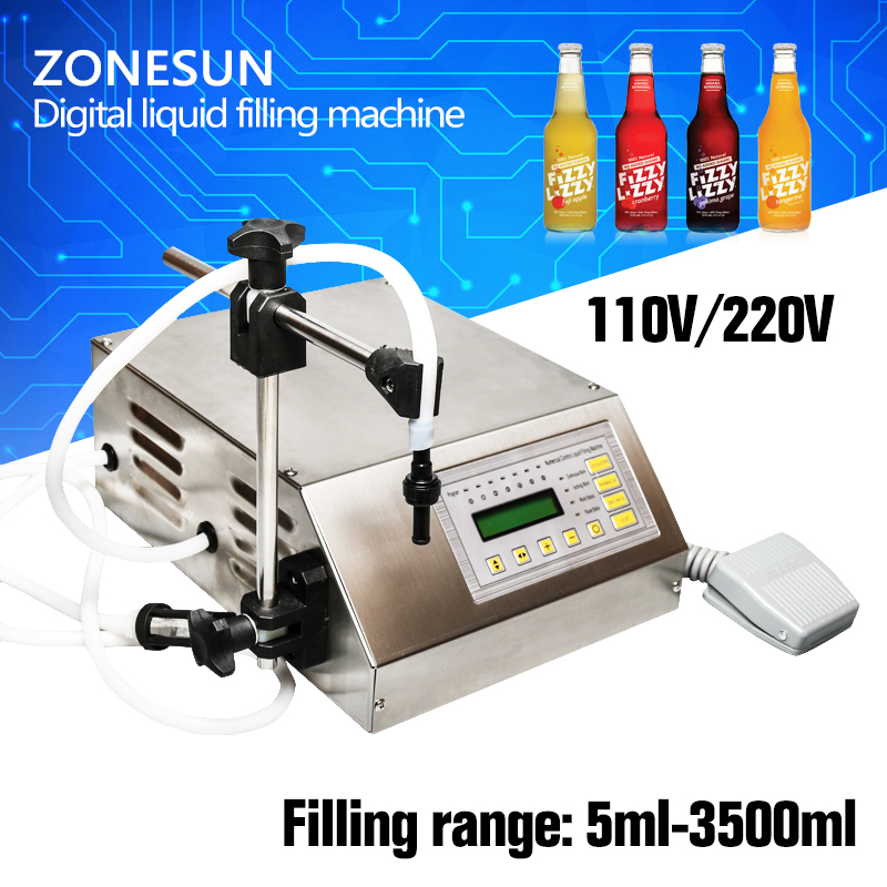 ZONESUN Free shippng with fast express New Brand Digital Control Water Liquid Filling Machine Filler GFK-160 5-3500ml zonesun pump for liquid filling machine gfk 160