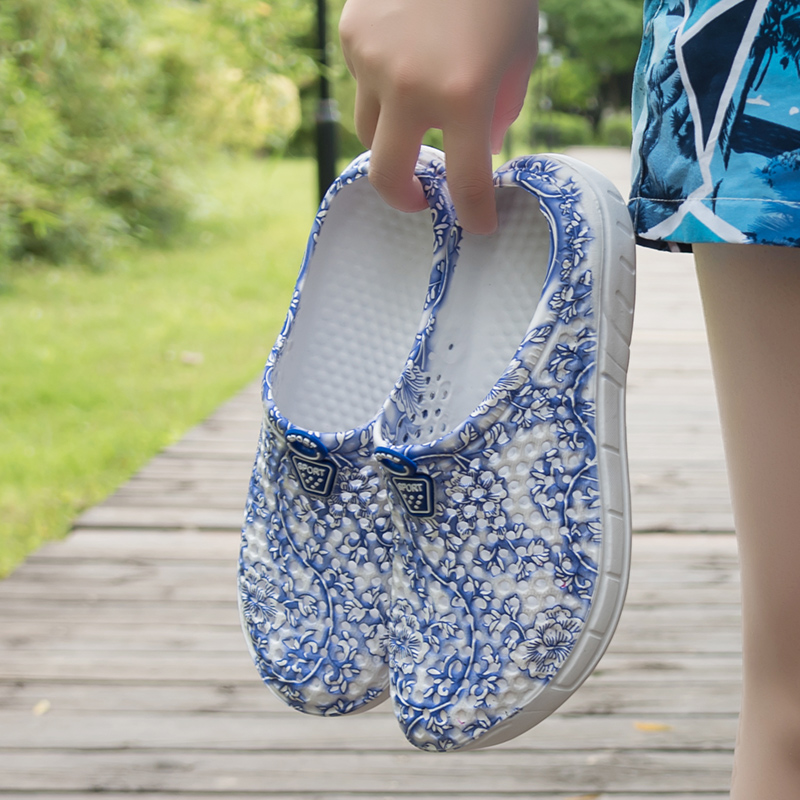 2019 Fashion Breathable Shoes Clogs Women Sandals Ladies Beach Sandals Hollow Out Casual Outdoor Waterproof Slippers Flats Shoes 1