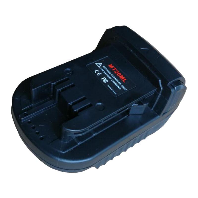 MT20ML Converter Adapter For Makita 18V Li-ion Battery BL1830 BL1860 BL1815 Used On Milwaukee M18 Lithium Battery Tool