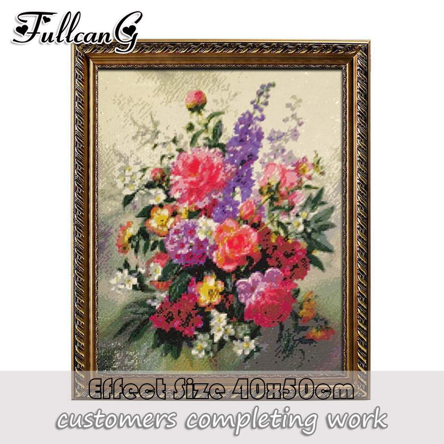 FULLCANG Full Square Diamond Embroidery Butterfly And Flowers Diy 5D Diamond Painting Cross Stitch Triptych Mosaic Arts F865 in Diamond Painting Cross Stitch from Home Garden