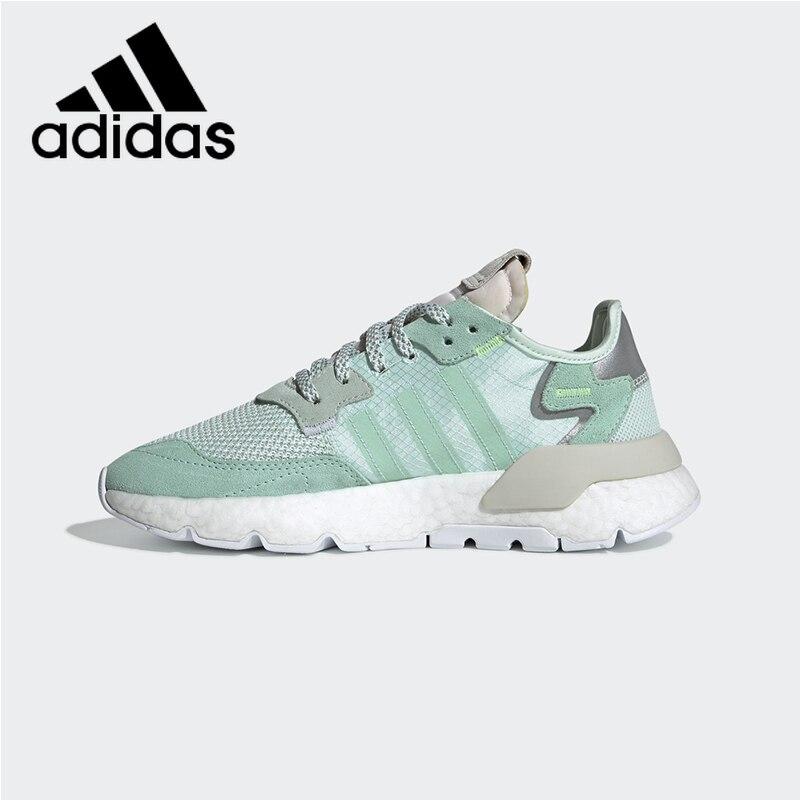Authentique Adidas Nite survêtement femmes chaussures de course de mode chaussures de sport de plein air respirant amortisseur F33837