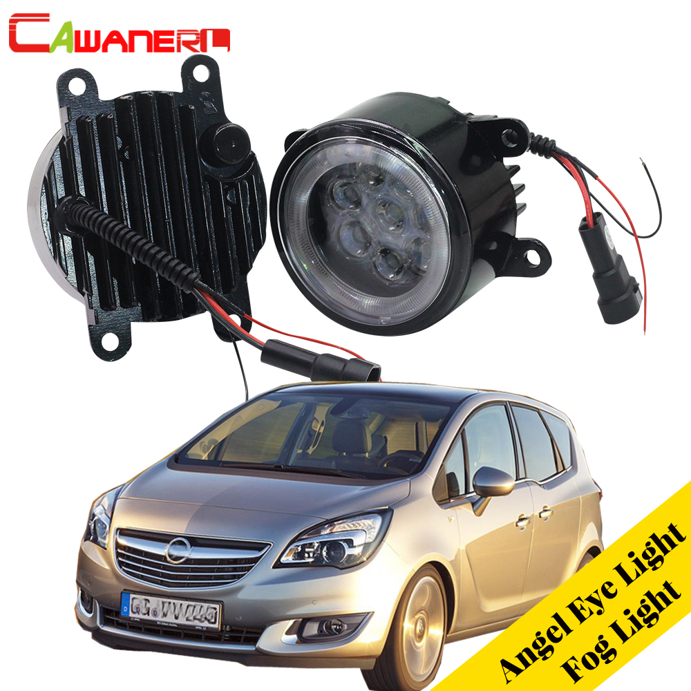 Cawanerl 2 X Car LED Bulb Fog Light Angel Eye DRL Daytime Running Light 12V Styling For Opel Meriva A 2006 2007 2008 2009 2010 ambiente подвесная люстра ambiente toledo 02155 3 wp