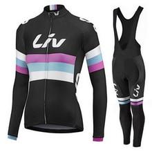 2017 winter women Cycling jersey bike pants set thermal fleece team Liv pro bike clothing lady MTB bicycling maillot Culotte