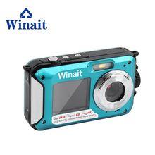 "1080P 16X Digital Zoom 24MP Cheap Compact Digital Camera Waterproof Mini CameraWith 2.7""TFT LCD Screen Smile Capture"