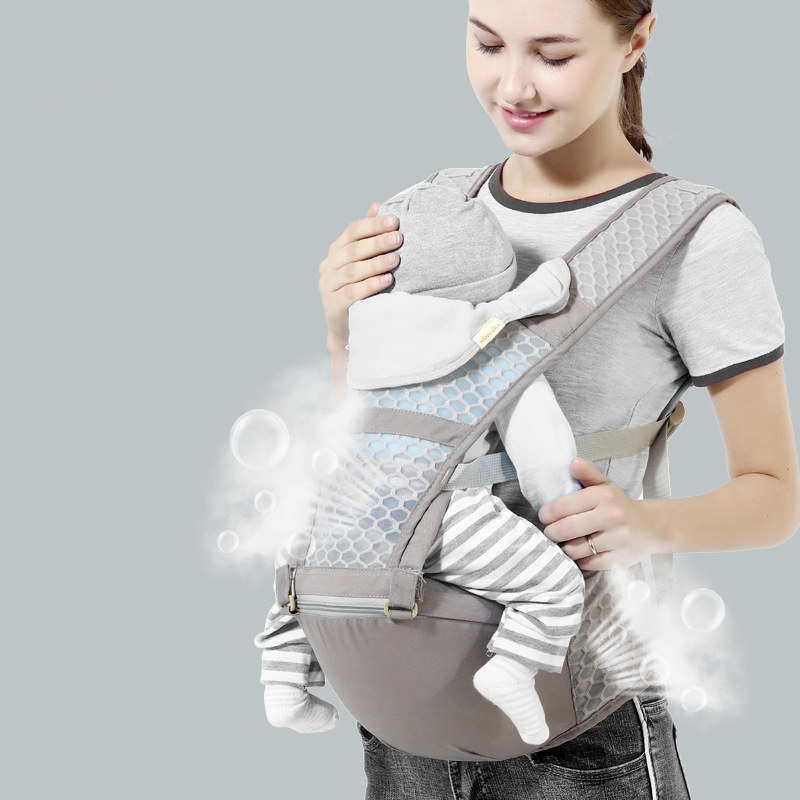 New Hipseat Breathable Front Facing Baby Carrier Multifunction For Mum  Sling Backpack Newborn Waistband Pouch Wrap Kangaroo