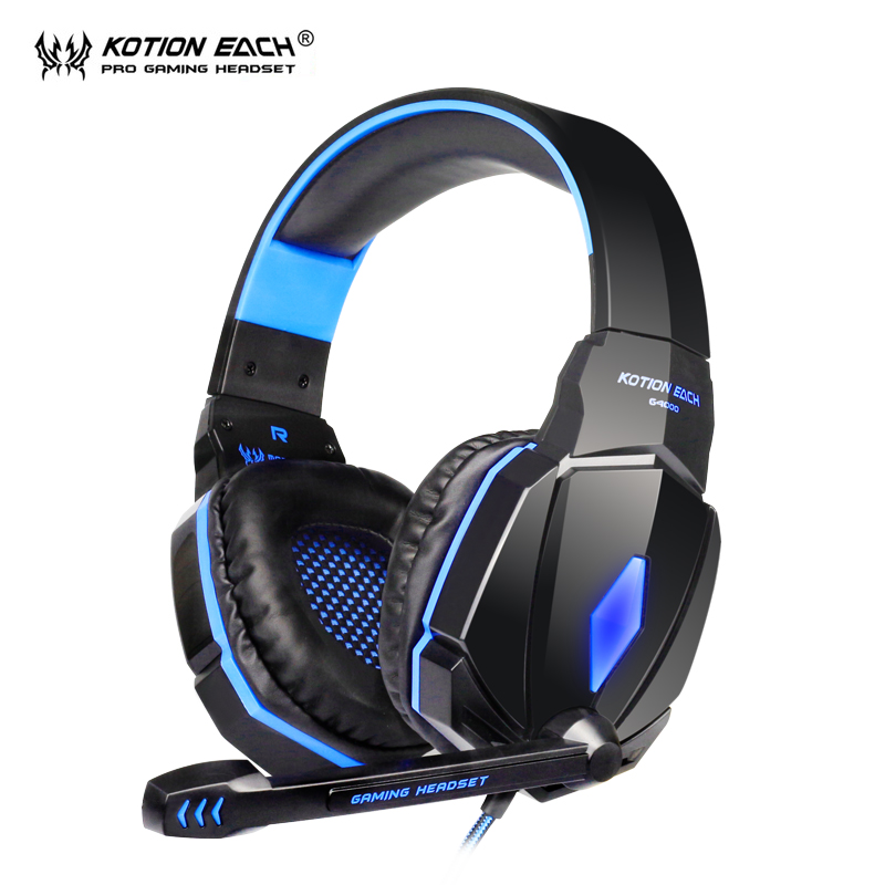 KOTION EACH G4000 Gaming Headset gamer pc gamer Stereo Headphones With Microphone LED light headphone for computer laptop kotion each g2000 gaming headset pc gamer headphones headphone for computer auriculares fone de ouvido with microphone led light