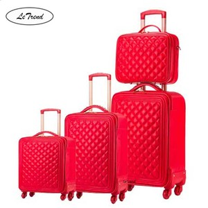 LeTrend High grade luxury Brand Rolling Luggage Set Spinner High capacity Trolley Retro PU Leather 16/20' Cabin Suitcase Wheels
