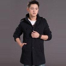 2017 модный бренд одежды мешковатые хип-хоп плюс размер повседневная мужская зима теплая ветровка шерстяные пальто вниз пальто куртки