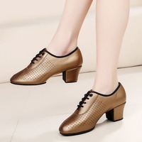 BD 83 Heel 5cm Soft Genuine Leather Cha Cha Teacher Dance Shoes BD Ballet Ballroom Latin Dancing Shoes Women
