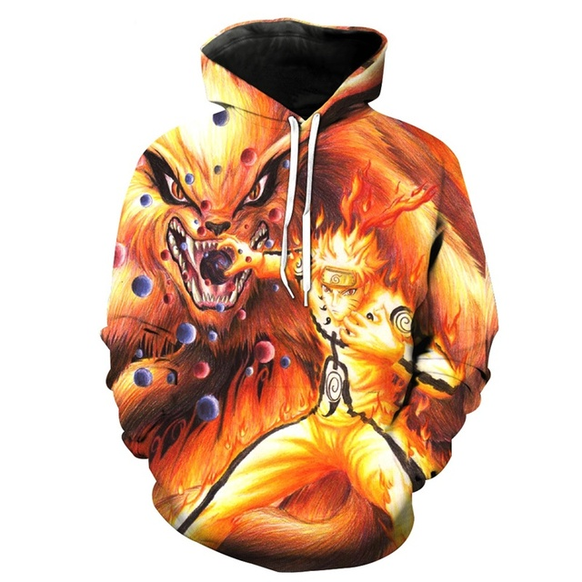 Digital 3D anime print fashion boutique unisex Naruto hoodie cool high quality men/women casual sport hooded sweatshirt pullover 5