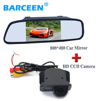170 lens angle car parking camera rainproof+5 lcd wide screen car mirror for Toyota Corolla (2007~2011) /Vios (2009 ~2010)