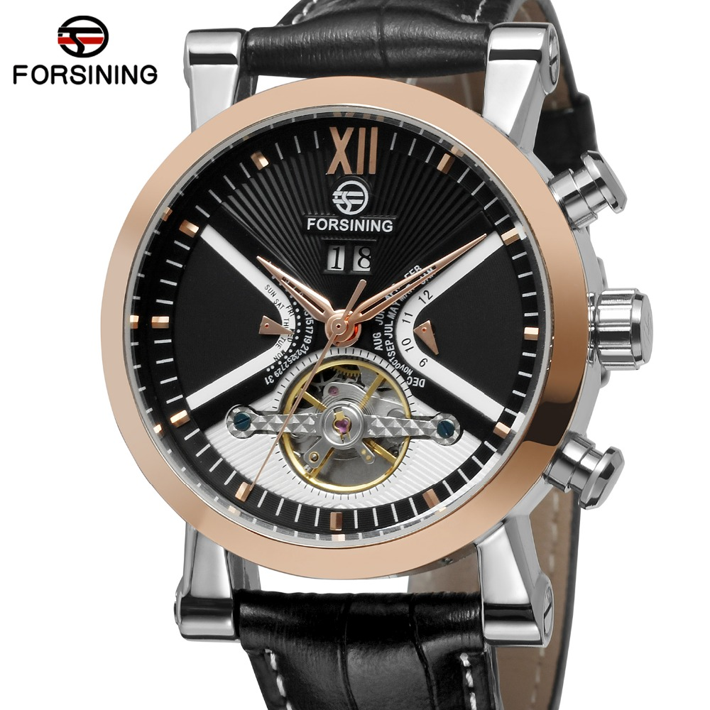 FORSINING Men's Watches Super Stylish Import Branded Autoamtic Tourbillion Calendar Wristwatch Classic Clock Relogio Masculino miaosen gong collaborative services in ubiquitous network