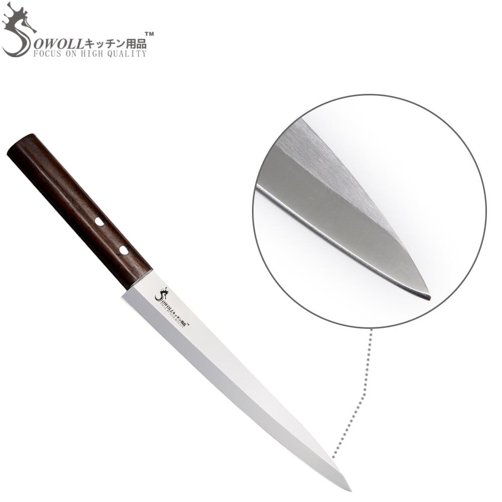 SOWOLL prekės ženklas 8 colių Sashimi peilis puikus japoniško - Virtuvė, valgomasis ir baras - Nuotrauka 3