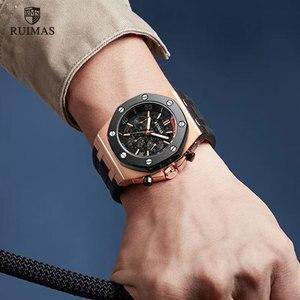 Image 5 - RUIMAS 24 heures montres à Quartz hommes de luxe sport armée chronographe montre bracelet Top marque Relogios Masculino horloge montre R540 Rose