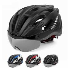 Unisex Riding Helmet with Magnetic Fixed Goggles 57CM-62CM MTB Road Cycling Equipment for Adult
