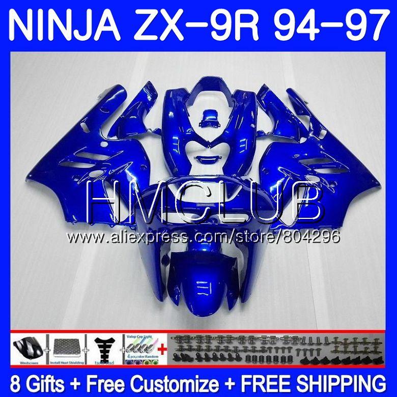 Bodys bleu Brillant Pour KAWASAKI NINJA ZX900 ZX-9R 94 95 96 97 46HM. 15 ZX 9 R 94 97 ZX 9R 900CC ZX9R 1994 1995 1996 1997 Carénage