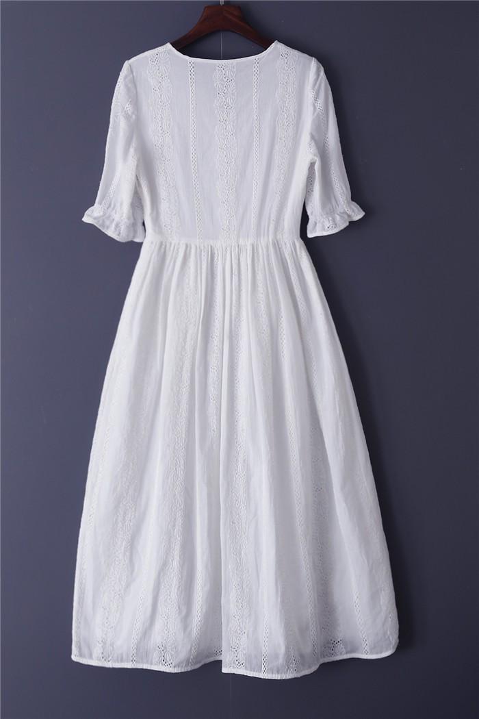 4aff23e04edd Miranda Kerr New In 2016 Fashion Autumn Dress Embroidery Casual White Dress  With Black Belt Plus Size Women Dresses Half Sleeve