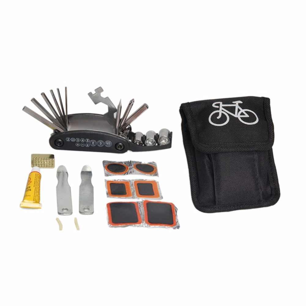 Набор инструментов для ремонта велосипедных шин, Набор сумок, многофункциональное Велосипедное обслуживание, складной шестигранный гаечный ключ, портативное оборудование для езды на велосипеде w