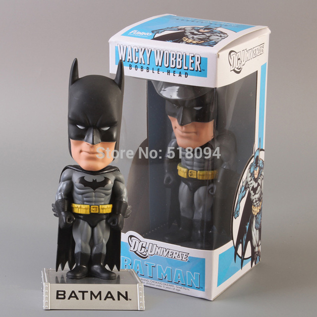 Free Shipping FUNKO DC Universe Batman Wacky Wobbler Bobble Head PVC Action Figure Collection Toy Doll FKFG060
