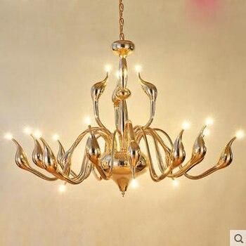 Candelabro minimalista postmoderno, candelabro nórdico para sala de estar, candelabro de cisne, candelabro con personalidad creativa, restaurante