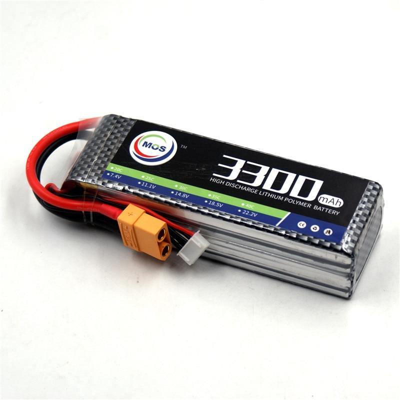 MOS 4S lipo batterie 14.8 v 3300 mah 25C Pour hélicoptère rc voiture rc bateau rc quadcopter Li-polymère battey