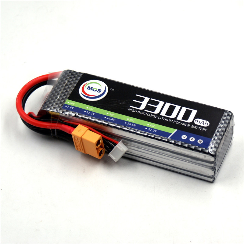 MOS 4S lipo battery 14.8v 3300mAh 25C For rc helicopter rc car rc boat quadcopter Li-Polymer battey mos 5s rc lipo battery 18 5v 25c 16000mah for rc aircraft car drones boat helicopter quadcopter airplane 5s li polymer batteria
