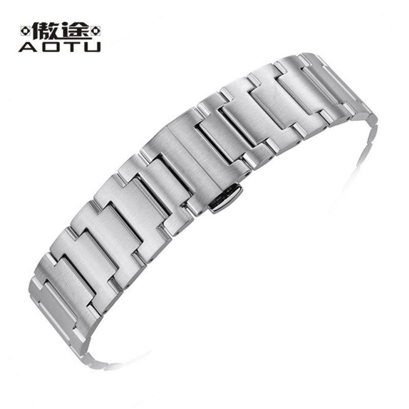 цена Stainless Steel Watchbands For MIDO COMMANDER Men Watches Band 21MM Top Quality Watch Straps Male Bracelet Belt Clock Band