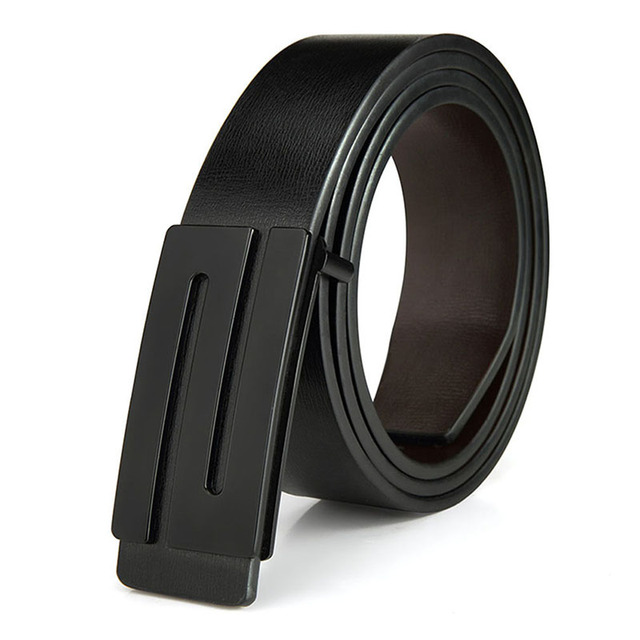 Men's Black Fashion Jeans Belts