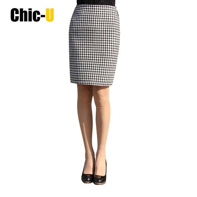 67444a7dc9 2015 Fashion Womens Ladies High Waist Midi Pencil Shorts Skirt Bodycon Slim  Tube Stretch Saias plaid Skirts