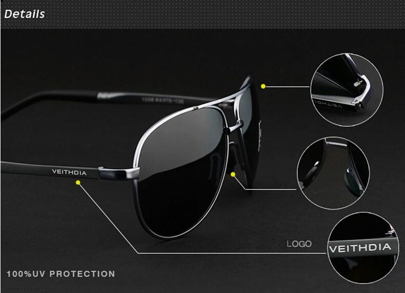VEITHDIA Men's Polarized Sunglasses 21