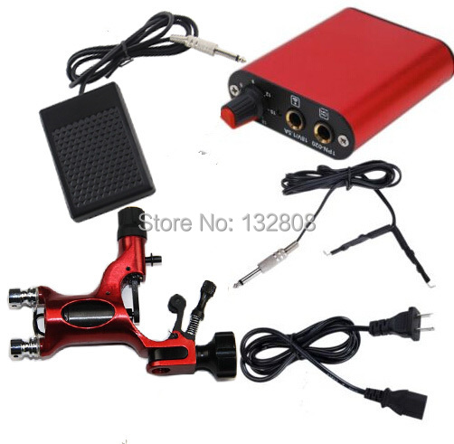 Hot Sale Tattoo Kit Cheap Tattoo Kit of Rotary Tatoo Machine Mini Tattoo Power Supply Tattoo Pedal Clip Cord For Free Shipping promotion tattoo machine power supply digital foot pedal switch 8 clip cord tattoo grommets tattoo kit free shipping