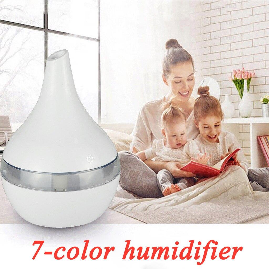 Увлажнитель воздуха диффузор для эфирных масел, 300 мл ультразвуковой увлажнитель воздуха дерево светодиодный ночной Светильник домашнего ...