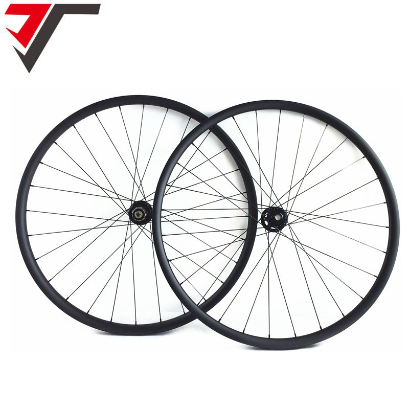 TRIPS 27mm Wide Asymmetric 29er Carbon mtb Wheels hookless carbon mountain bike wheelset 29er carbon bicycle