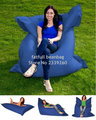 Cover only  No Filler - Navy blue garden relax bean chair, Wholesale outdoor Cushions giant bean bag,420D nylon coverfat sack